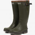 Barbour Tempest Men's Neoprene Wellington Boots Olive 1