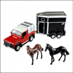 Britains Land Rover Horse & Trailer Play Set 1-32 Scale 1