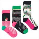 Joules Christmas Bamboo Socks 3 Pack Holly Socks 1