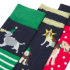 Joules Christmas Bamboo Socks 3 Pack Xmas Dogs 2