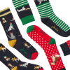 Joules Christmas Bamboo Socks 3 Pack Xmas Dogs 3