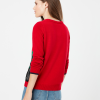 Joules Women's Cracking Red Intarsia Jumper Festive Dog 2