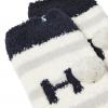 Joules Festive Fluffy Socks Ho Ho Ho Creme 2