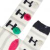 Joules Festive Fluffy Socks Ho Ho Ho Creme 3