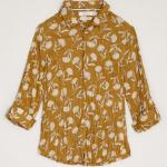 Seasalt Larissa Organic Cotton Shirt Sea Fan Scatter Kelp 1