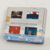Seasalt Men's Postcard Socks Box O'4 Retreating Cliff Mix 2
