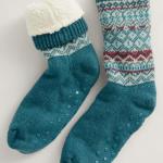Seasalt Women's House Socks Icelandic Dark Lake Mix 1