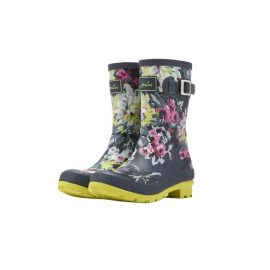 Joules Navy Floral Molly Wellington Boots