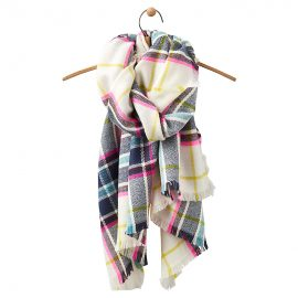 Joules Berkley Oversized Scarf Antique Cream