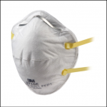 3M 8710E Unvalved Cup Shaped Dust-Mist Respirators 1