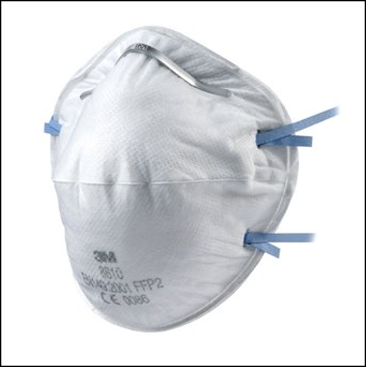 3M 8810 Unvalved Cup Shaped Dust-Mist Respirators 1