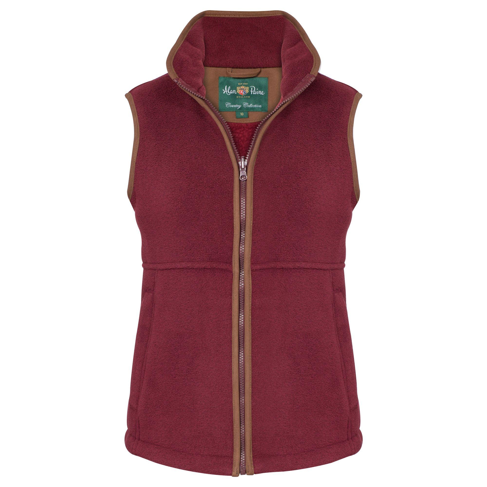 AP Aylsham Ladies Bordeaux Fleece Waistcoat 1