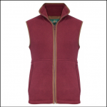 Alan Paine Aylsham Mens Bordeaux Fleece Waistcoat
