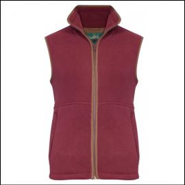 AP Aylsham M Bordeaux Fleece Waistcoat 1