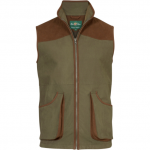 Alan Paine Berwick Mens Olive Waterproof Shooting Waistcoat 1