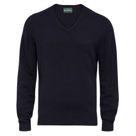AP Burford Mens Navy Vee Neck Pullover