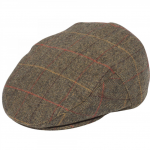 Alan Paine Combrook Mens Peat Tweed Flat Cap 1