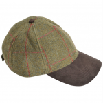 Alan Paine Combrook Mens Sage Tweed Baseball Cap 1