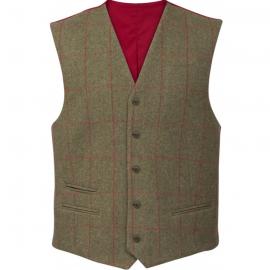 AP Compton M Sage Tweed Classic Fit Waistcoat 1