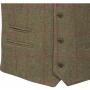 AP Compton M Sage Tweed Classic Fit Waistcoat 2