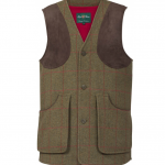 Alan Paine Combrook Mens Sage Tweed Shooting Waistcoat 1