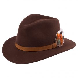 AP Surrey Unisex Brown Felt Hat