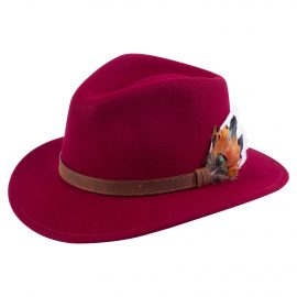 AP Surrey Unisex Wine Felt Hat