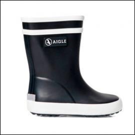 Aigle Baby Flac Unisex Wellington Boots Marine 1