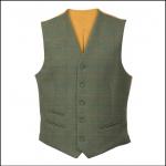 Alan Paine Combrook Men's Lovat Tweed Lined Back Waistcoat 1