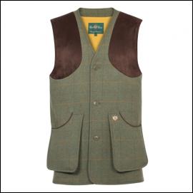 Alan Paine Combrook Men's Lovat Tweed Shooting Waistcoat 1