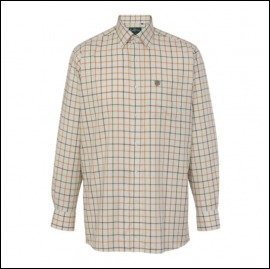 Alan Paine Ilkley Men's Olive Wide Check Country Shirt 1