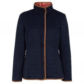 Alan Paine Ladies Felwell Navy Quilted Jacket 1
