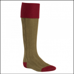Alan Paine Olive Burgundy Country Socks