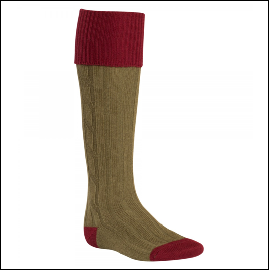 Alan Paine Olive Bordeaux Country Socks