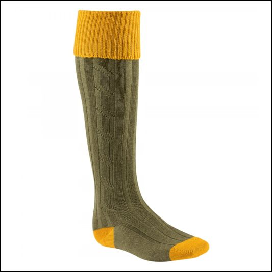 Alan Paine Olive Gold Country Socks 1