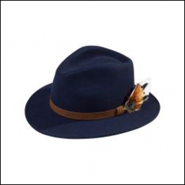 Alan Paine Richmond Unisex Navy Felt Hat 1