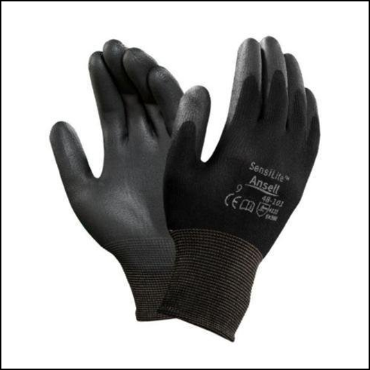 Ansell Sensilite Multi Purpose Black Nylon PU Coated Gloves
