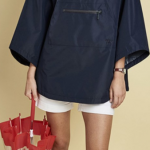 Barbour Alto Ladies Navy Waterproof Cape 3