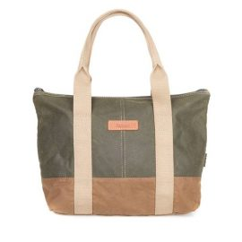 Barbour Ashridge Small Tote Bag - Olive-Sandstone 1