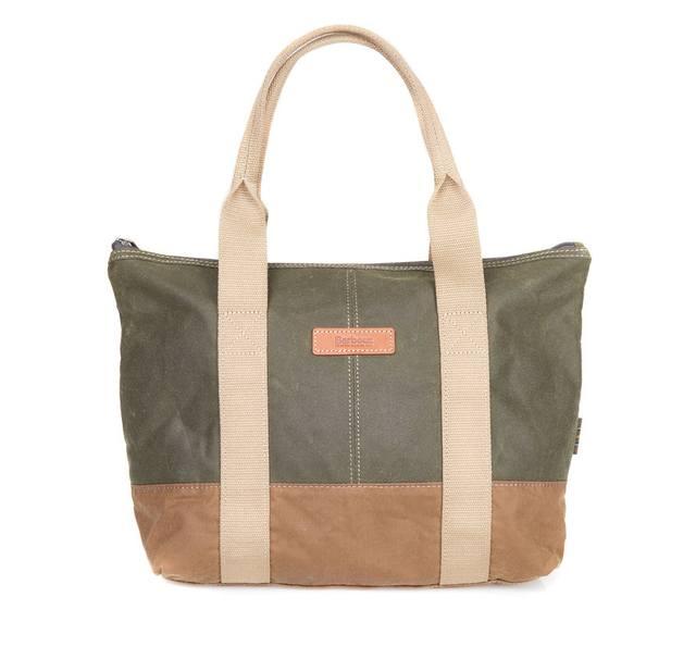 Barbour Ashridge Small Tote Bag - Olive-Sandstone 1
