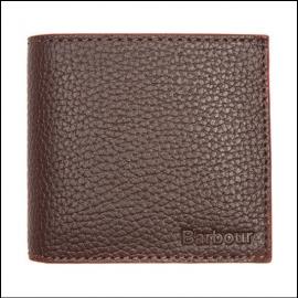 Barbour Billfold Grain Leather Dark Brown Wallet 1