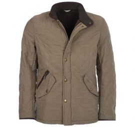 Barbour Bowden Quilted Jacket Light Olive 1