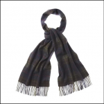 Barbour Brignall Olive-Brown Lambswool Scarf