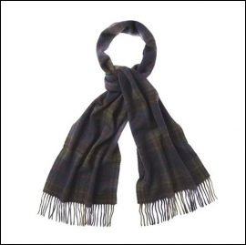 Barbour Brignall Olive-Brown Lambswool Scarf 1