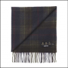 Barbour Brignall Olive-Brown Lambswool Scarf 2