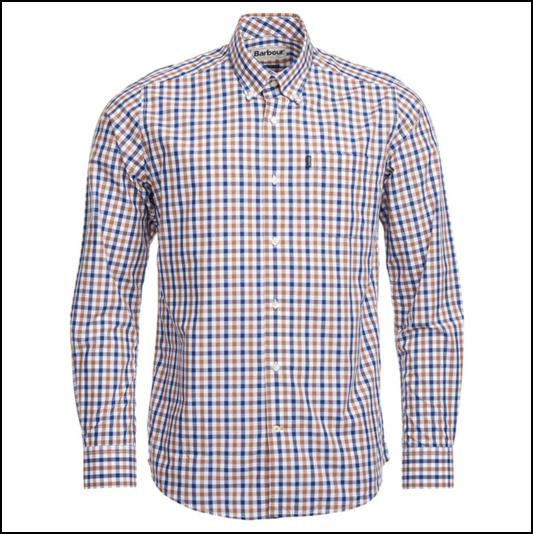 Barbour Bruce Mocha Medium Tailored Fit Shirt 1