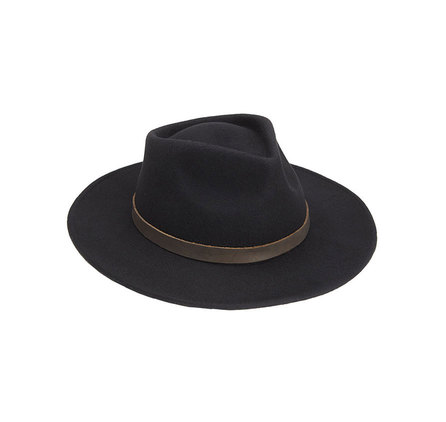 a3e9887c4c Barbour Bushman Crushable Black Felt Hat