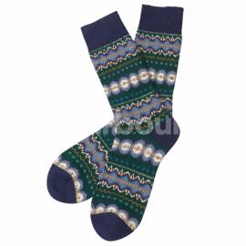 Barbour Caistown Fairisle Socks Navy