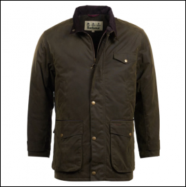 Barbour Cole Olive Wax Jacket 1