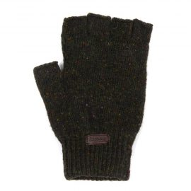 Barbour Donegal Fingerless Gloves Dark Green 1
